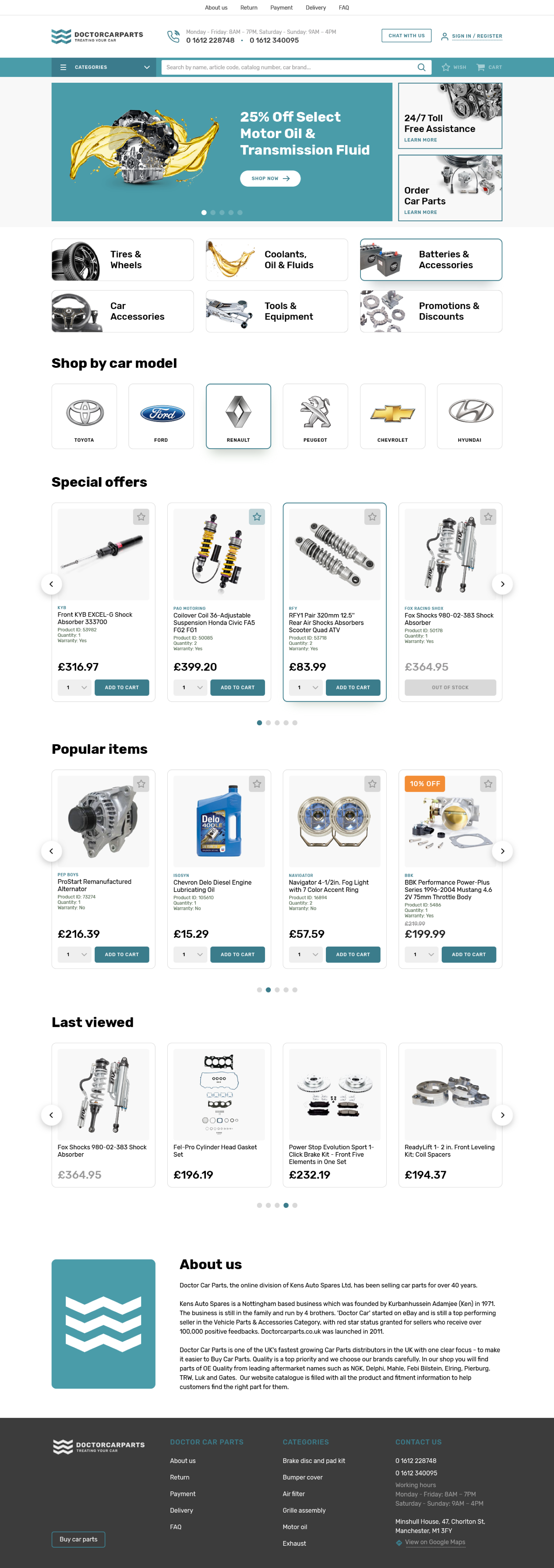 home page Doctorcarparts