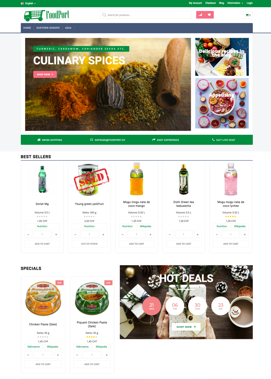 main page foodport