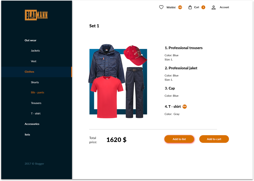 product page style